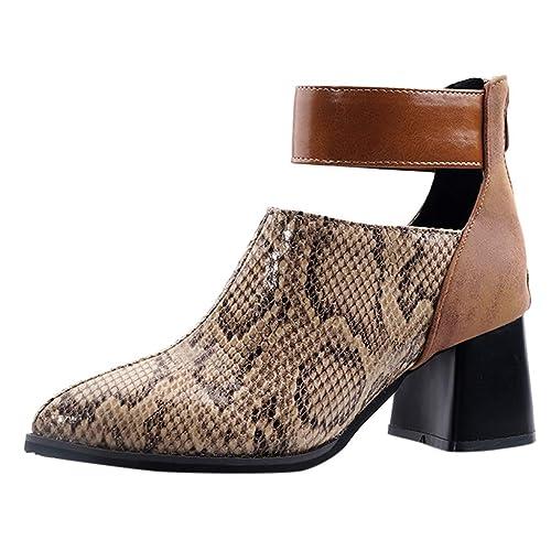 Kniehohe Blockabsatz Stiefel Damen Boots Schnürsenkel Faux-Wildleder Schuhe NEUE