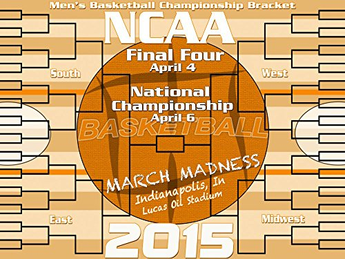 March Madness Bracket Poster - 2015 March Madness Board - Ncaa