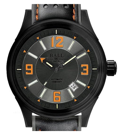 Bola Bombero Racer D: C Reloj Automático Gris Dial Naranja Números Arábigos 3H Gas nm3098