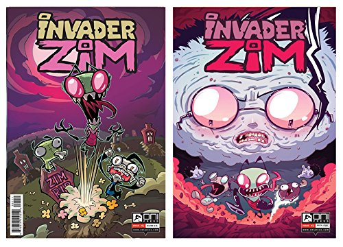 Invader Zim #1 (Two Comic Set) of Cover a and Cover C Incentive Variant. Incentive Variant Cover