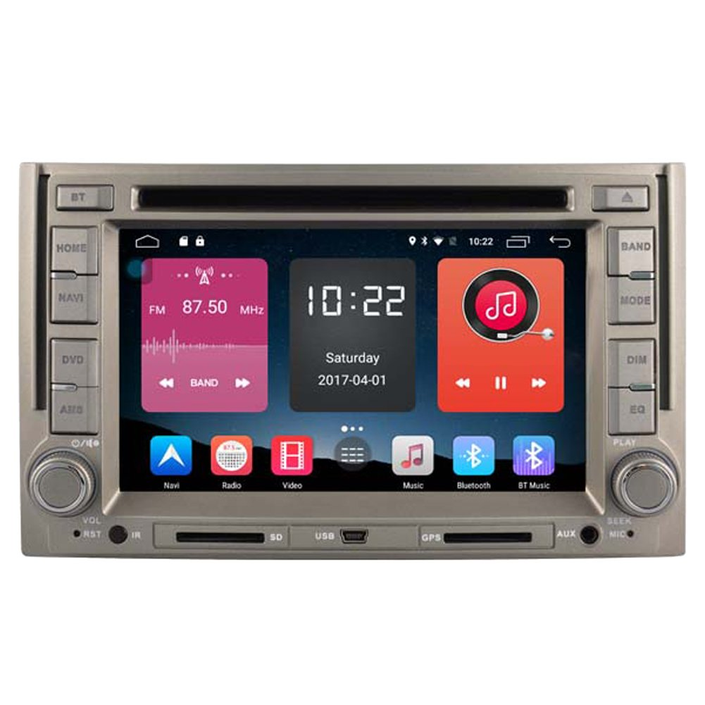 Autosion In Dash Android 6.0 Car DVD Player Sat Nav Radio Head Unit GPS Navigation Stereo for Hyundai H1 iLoad Starex H300 iMax Grand Starex Royale Support Bluetooth SD USB Radio OBD WIFI DVR 1080P