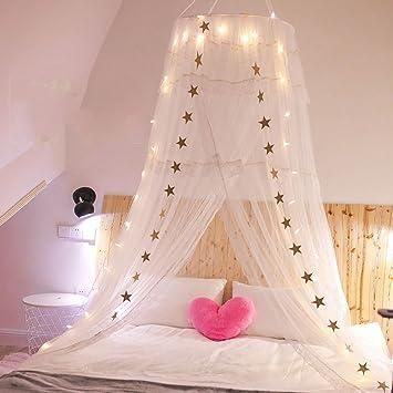 Mädchen Herz Traum Bett Vordächer, Schlafzimmer Kopfteil Kinderzimmer  Prinzessin Wind Garn Dome Moskitonetz A