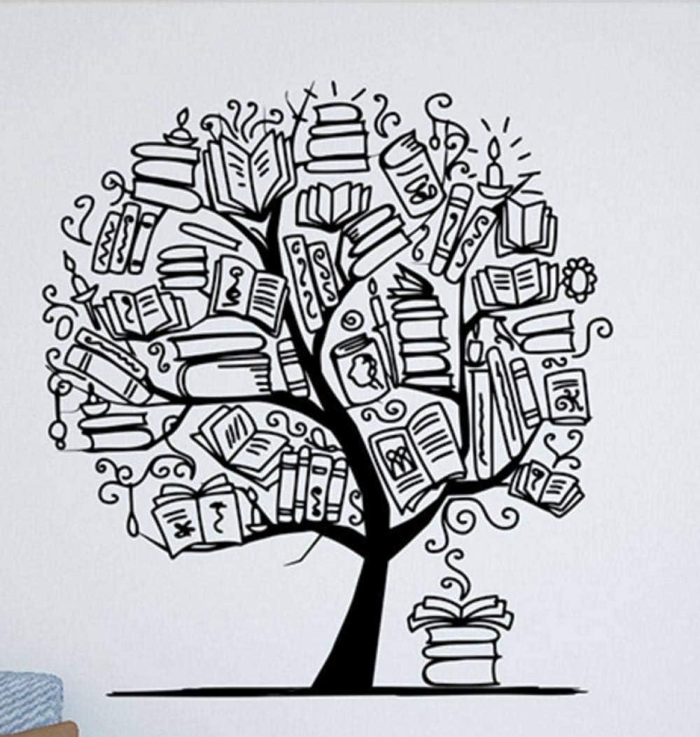 Terilizi Árbol Con Libros Tatuajes De Pared Biblioteca Vinilo ...