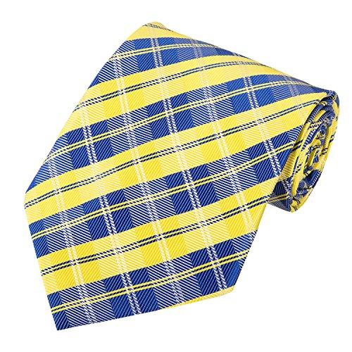 Lattice Stripe Silk (PilotMan Men's Tie Formal Necktie Scottish Lattice Silk Tie With Gift Box)