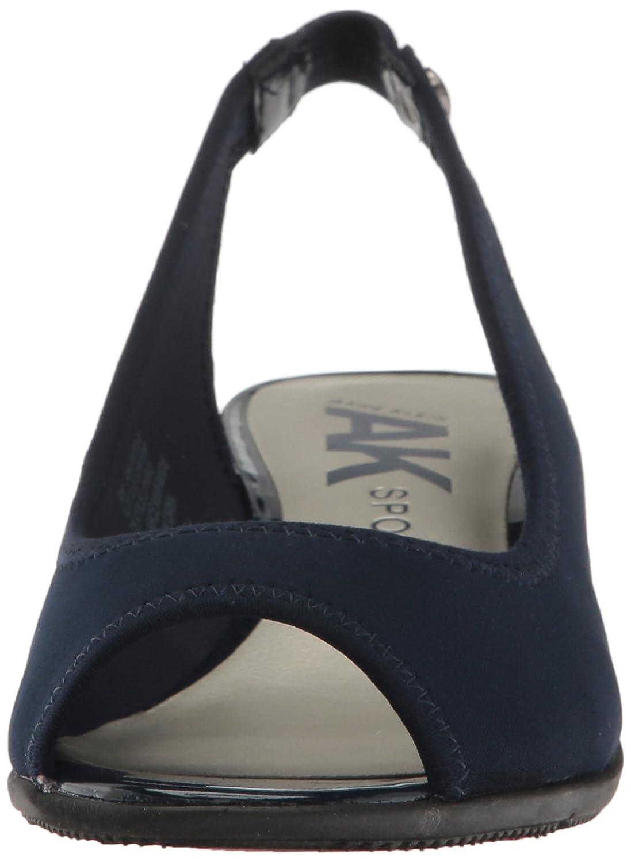 Anne Klein AK Sport Women's Jayla Fabric Wedge Pump B01N2L07RH 7 B(M) US|Navy