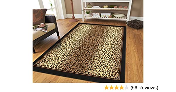 28e6ba5856 Amazon.com  Large 8x11 Cheetah Rug Animal Print Rectangle Leopard Rugs  Contemporary 8x10 Rugs for Living Room Modern Animal Rugs (Large 8 x11  Rug)   Kitchen ...