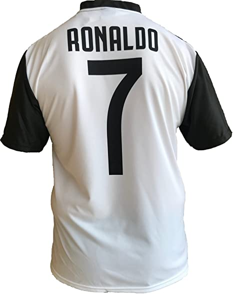JUVE Camiseta de Fútbol Cristiano Ronaldo 7 CR7 Juventus F.C. Home Temporada 2018-2019 Replica Oficial con Licencia - Todos Los Tamaños Niño (2 4 6 8 10 12 AÑOS) y Adulto (S M L XL): Amazon.es: Deportes y aire libre
