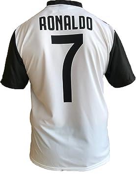 0a46452b53e42 JUVE Camiseta de Fútbol Cristiano Ronaldo 7 CR7 Juventus F.C. Home  Temporada 2018-2019 Replica