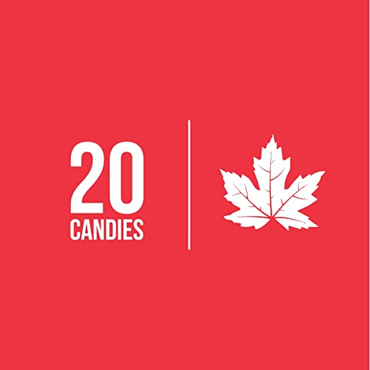 Organic Canadian Maple Sugar Candies (185g) Pure, All-Natural Sweet Treats  | Candy, Leaf-Shaped