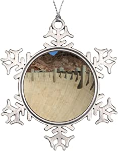Mars Secret Personalised Christmas Tree Decoration Hoover Dam 2 Christmas Snowflake Ornament