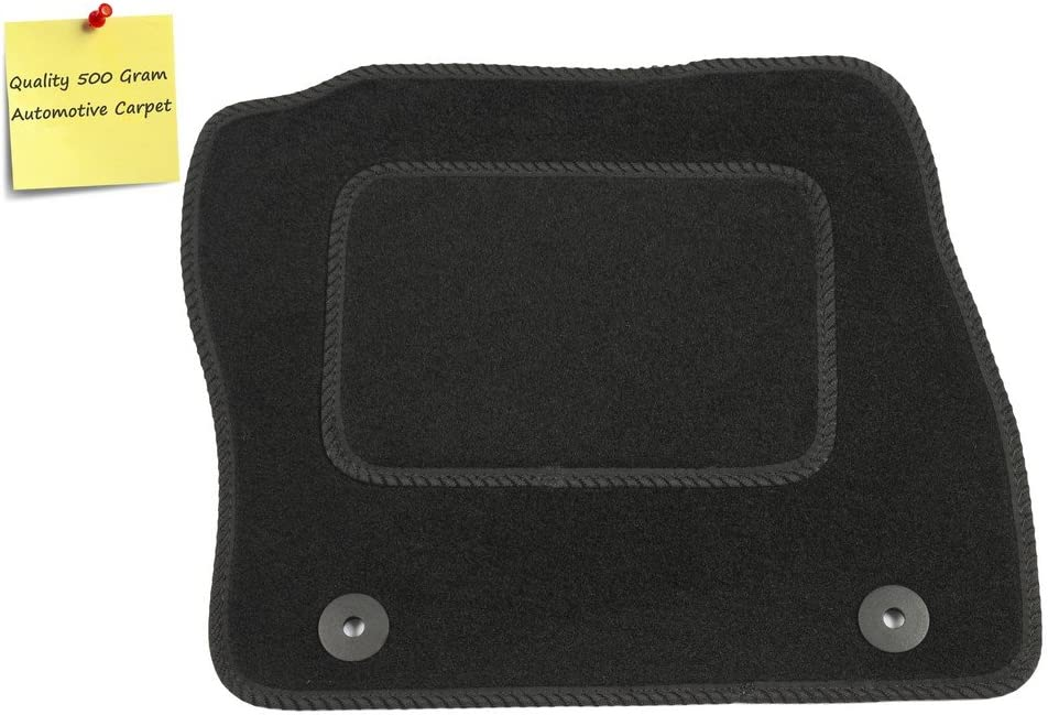 Connected Essentials 5067765 Black Untrimmed Tailored Custom Fit Duty Rubber Mat Boot Liner for Audi TTS Coupe 2006-Onwards Heavy Cleaning /& Jet Suitable for Jet Washing MK 2