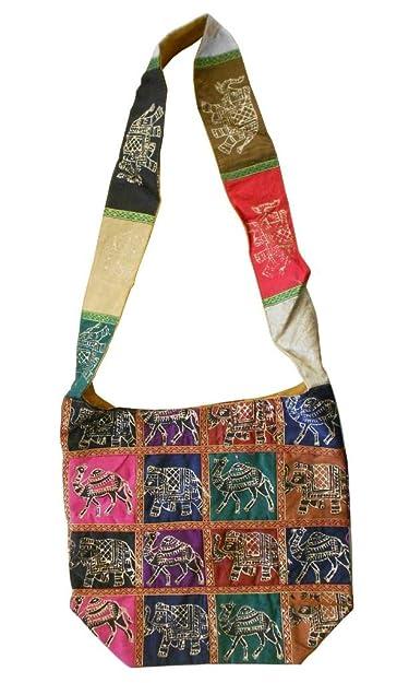 Amazon.com: Indio hecho a mano las mujeres bolsa de hombro ...