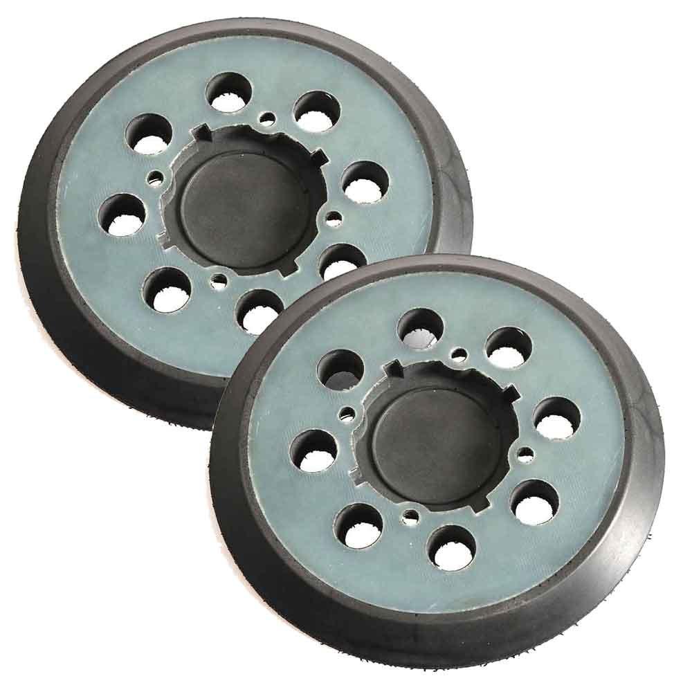 """Superior Pads and Abrasives RSP54 Aftermarket 5"""" Dia 8 Vacuum Holes Hook & Loop Sanding Pad Replaces Dewalt N329079 -Pack of 2"""