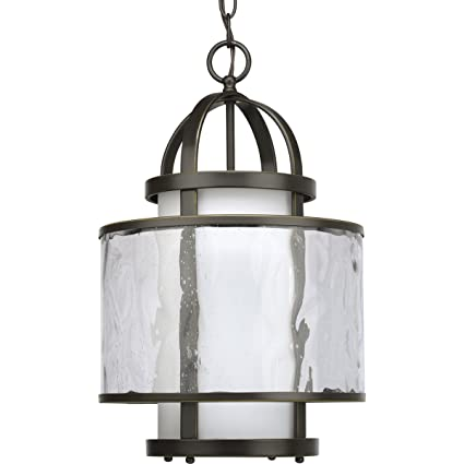 Progress lighting p3701 20 1 light bay court foyer fixture antique bronze