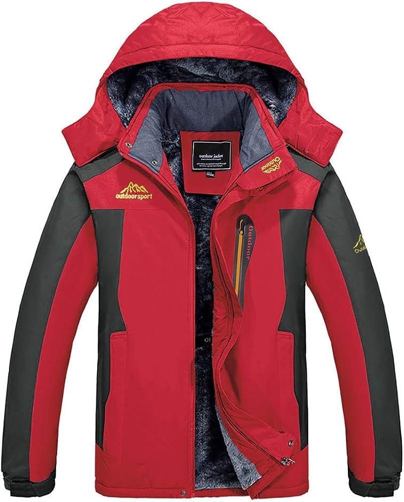BIYLACLESEN Men's Winter Jackets Windproof Windbreaker Fleece Lined Warm Ski Snowboard Jacket Parka Jacket: Clothing