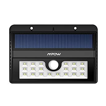 mpow solar light bright 20 led outdoor lighting motion sensor wall lights for driveway garden bright outdoor lighting