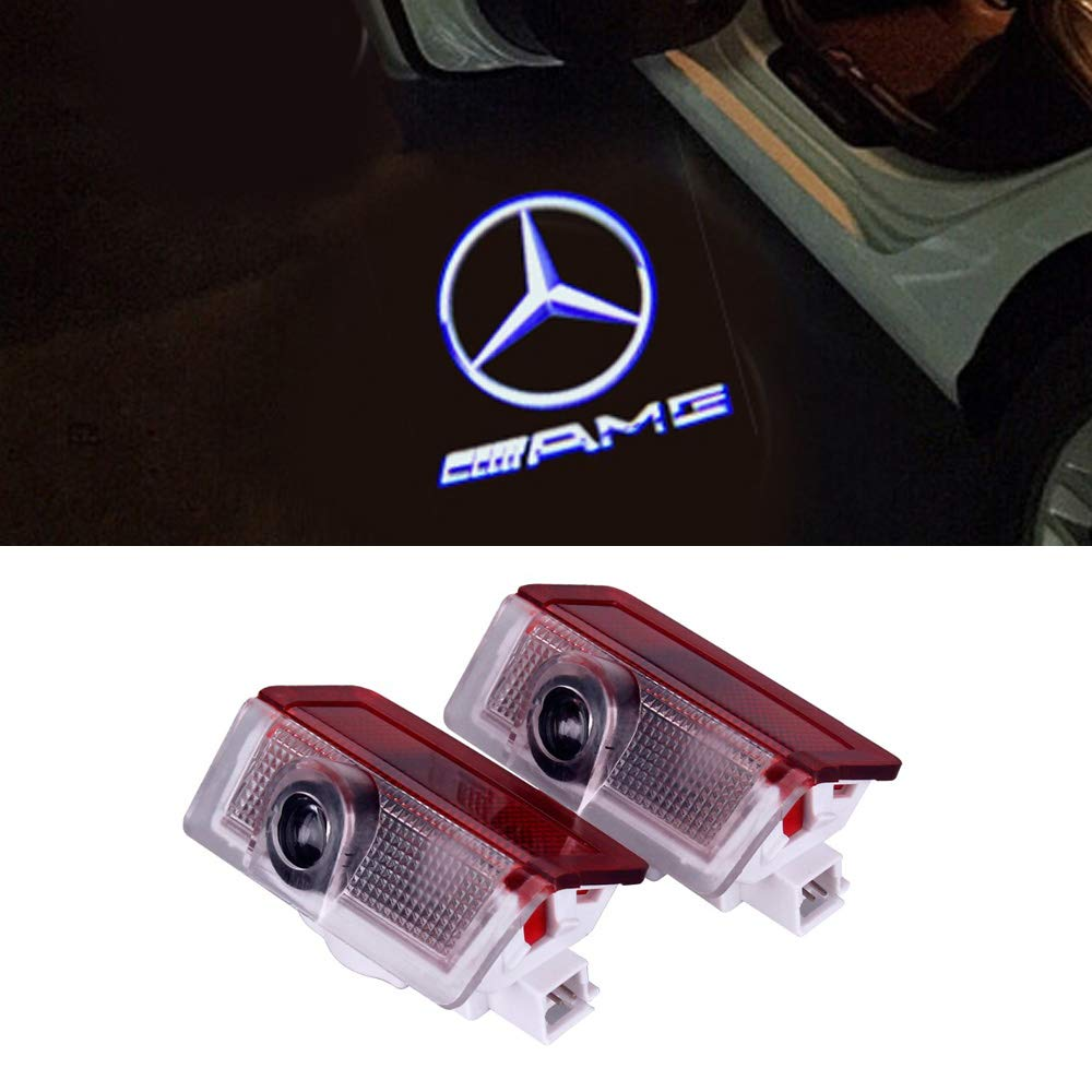 LIKECAR 2pcs Ghost Shadow Light Car Welcome Logo Door Light (W204-AMG)