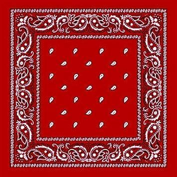 Foulard bandana tour de cou - Paisley USA rouge - Country - Cowboy - Moto 7X 5d0668aa781