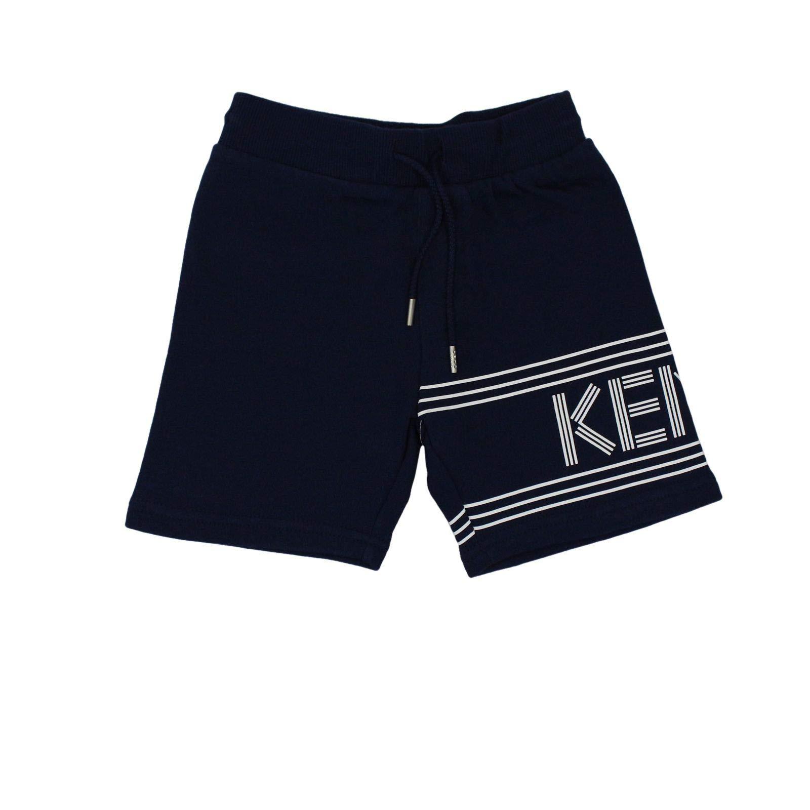 Kenzo Boys Kn2560849 Blue Cotton Shorts