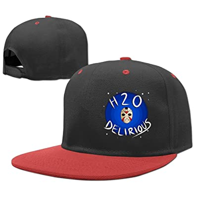 AAWODE Kid's H2o Delirious Skull Mask Plain Adjustable Snapback Hats Caps