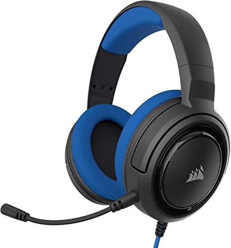 Corsair HS35 Stereo Gaming Headset (Custom 50 mm Neodymium Speakers, Detachable Unidirectional Microphone, Lightweight Build with Xbox One, PS4,