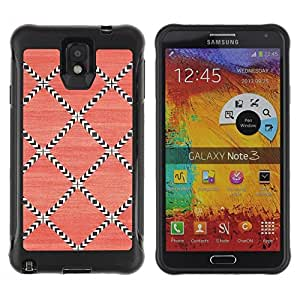 LASTONE PHONE CASE / Suave Silicona Caso Carcasa de Caucho Funda para Samsung Note 3 / Pattern Wallpaper Pink Art