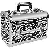 zebra print hair brush - SHANY Premier Fantasy Collection Makeup Artists Cosmetics Train Case - Zebra texture