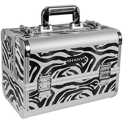 SHANY Premier Fantasy Collection Makeup Artists Cosmetics Train Case - Zebra texture