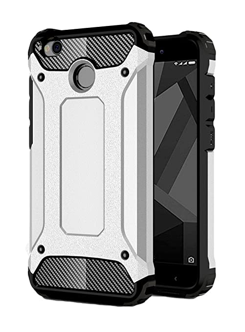 buy online 2d73d 5f44a Redmi 4 Back Cover Case,Tough Armor Dual Layer Hybrid Shockproof Cover for  Xiaomi Redmi 4 ( 5inch ) Mobile Phone - Frost Silver by Golden Sand