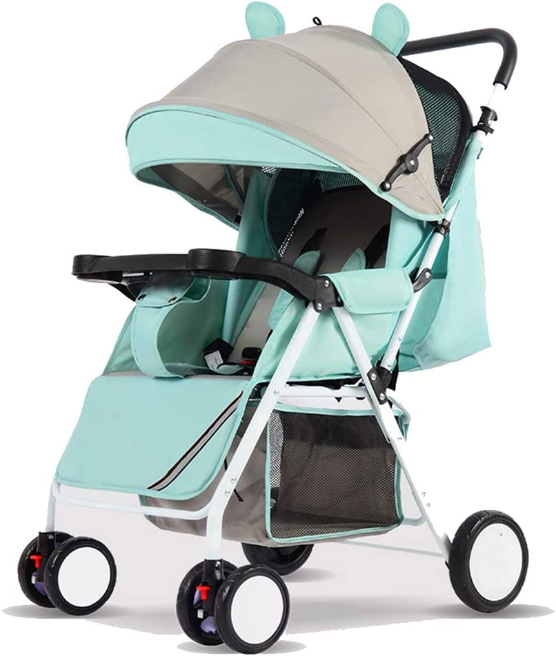 YLET Travel System 3 in 1 Combi Stroller Buggy Baby Child Pushchair Reverse or Forward Facing Rain Cover Mosquito Net Bottle Holder Foldable,Blue-OneSize