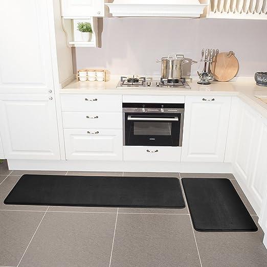 Amazon.com: Leevan - Juego de 2 alfombras de cocina de ...