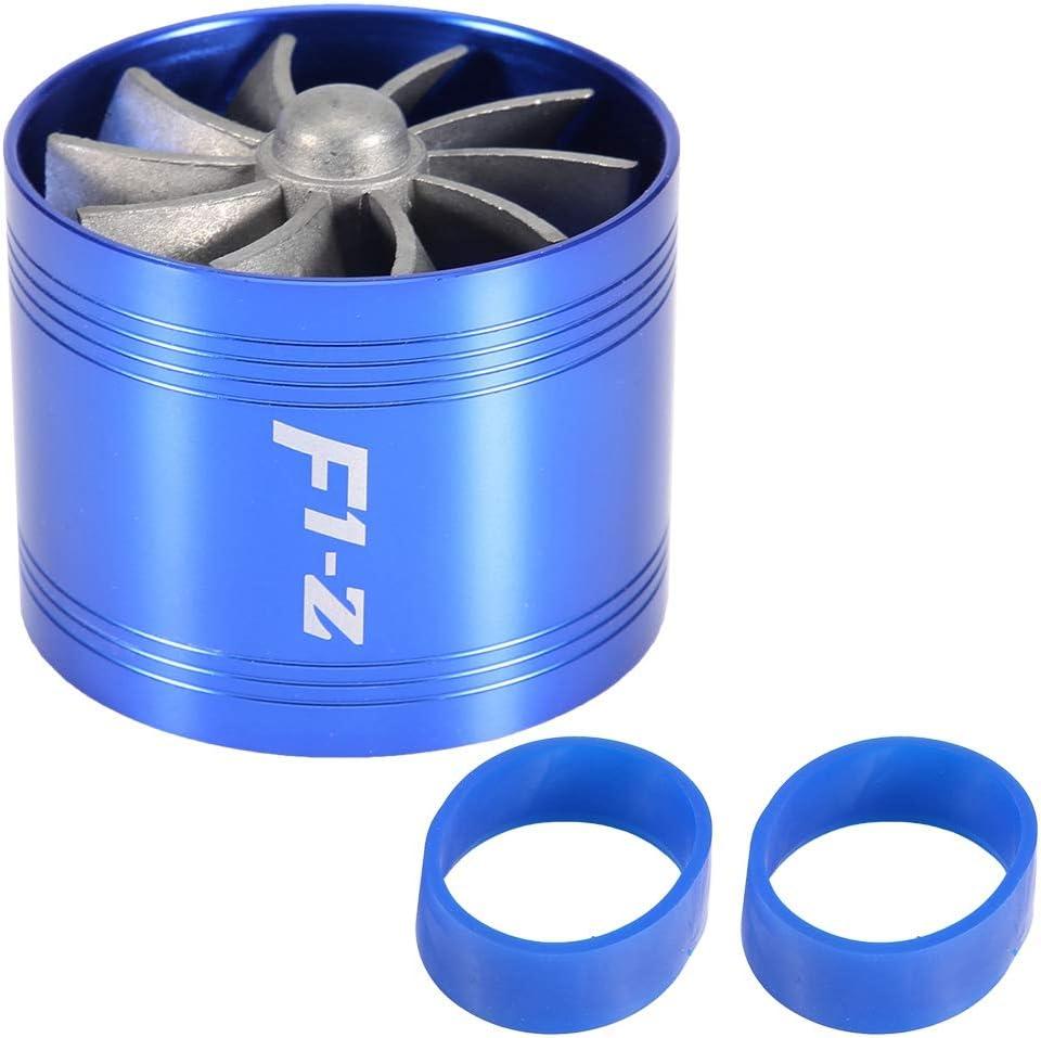 KIMISS Car Air Intake Turbonator Single Fan Turbine Super Charger Gas Fuel Saver Turbo Air Intake Turbo 64mm Black