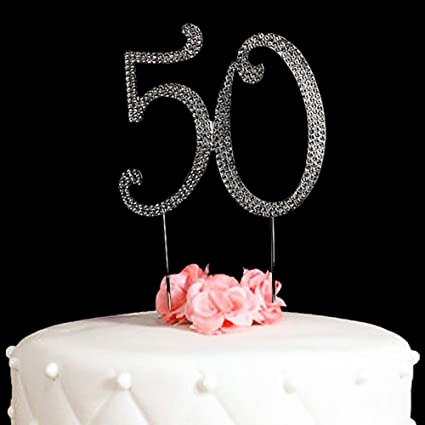Amazon 50 Cake Topper For 50 Years Birthday Or 50th Wedding