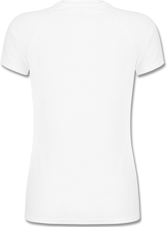 atmungsaktives Funktionsshirt f/ür Damen Run Love Shirtracer Laufsport