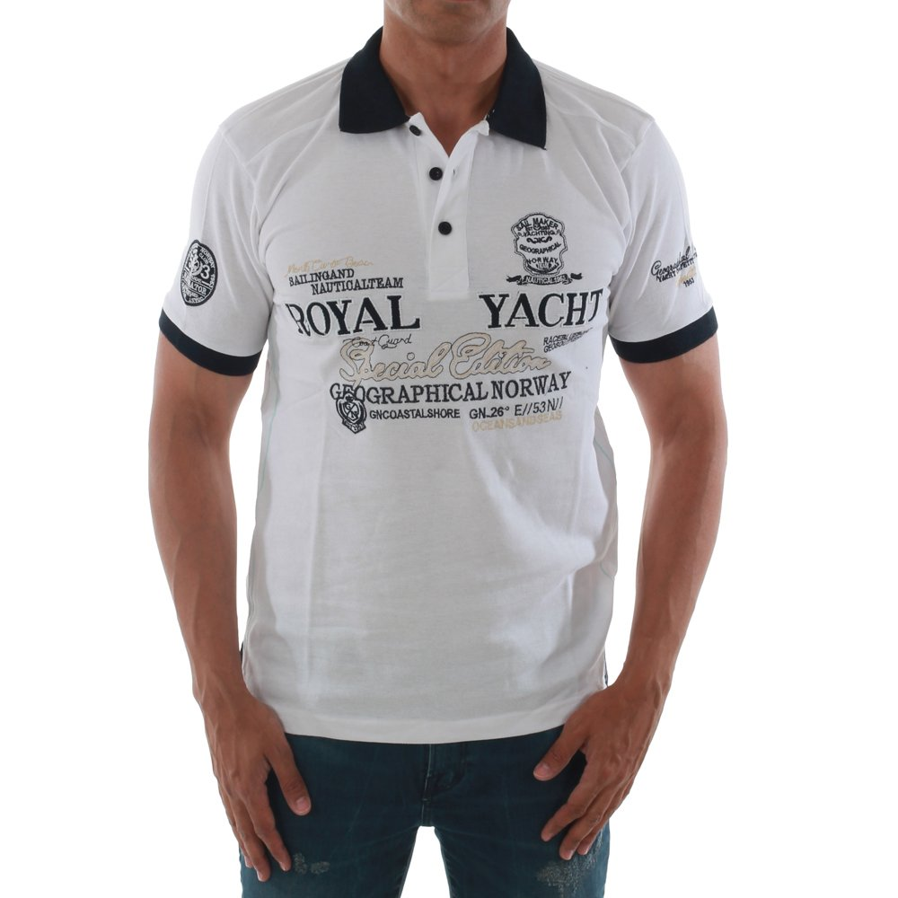 Geographical Norway - Polo - para hombre blanco Medium: Amazon.es ...