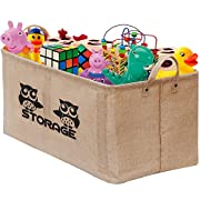 Gimars Easy Carrying 22x15  Well Standing Toy Chest Baskets Storage Bins for Dog Toys, Kids & Children Toys, Blankets, Clothes - Perfect for Playroom & Living Room