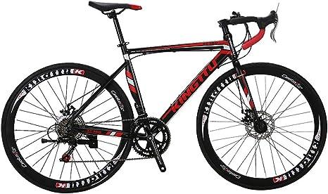 A070 Shifting System U.S. Warehouse XC760 52CM Commuter Bicycle 700 Tire Road Bike 14 Speeds Disc Brakes Spoke Wheel Lightweight Aluminium Frame