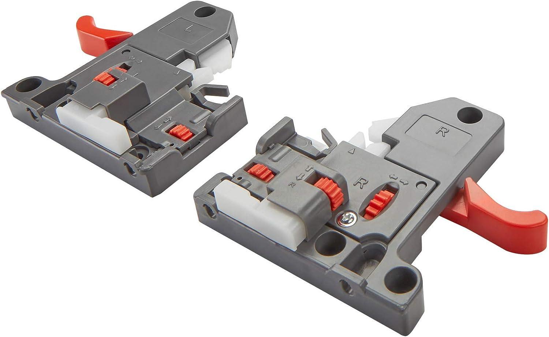 2 x Vollausz/üge UV30SC FullSlide mit 3D Verstellung 350 mm SoftClose Belastbar bis 30Kg Schubkastenschiene von SO-TECH