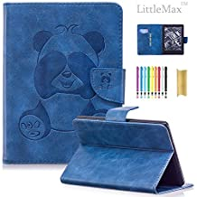 """Case for Kindle E-reader (8th Generation 2016) , LittleMax(TM) PU Leather Panda Embossed Wallet Case Magnetic Closure Cover for Amazon Kindle 6"""" Display, 8th Gen 2016 Release -01 Blue"""