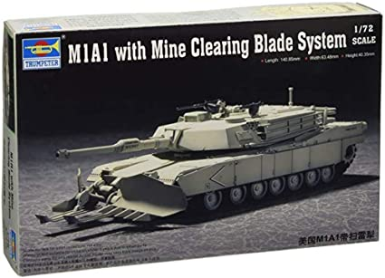 Trumpeter 07277 1//72 M1A1 with Mine Clearing Blade System