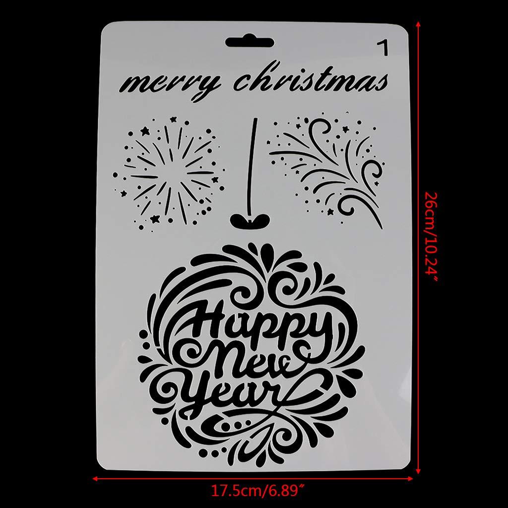 ShapeW 10 Pcs Christmas Stencils Template