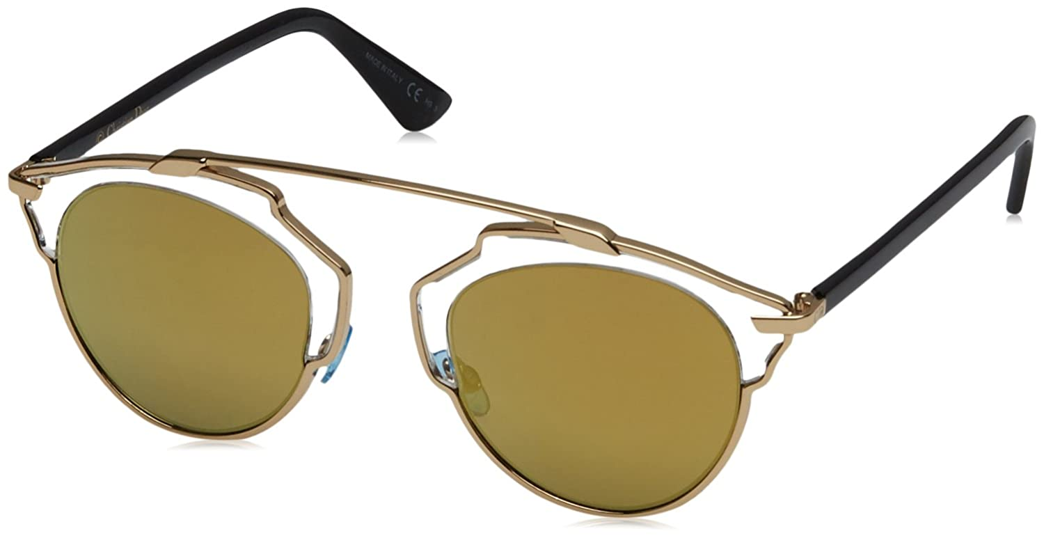 29cb66ed0084 Amazon.com  Christian Dior So Real U5SK1 Gold Cat Eye Sunglass  Clothing