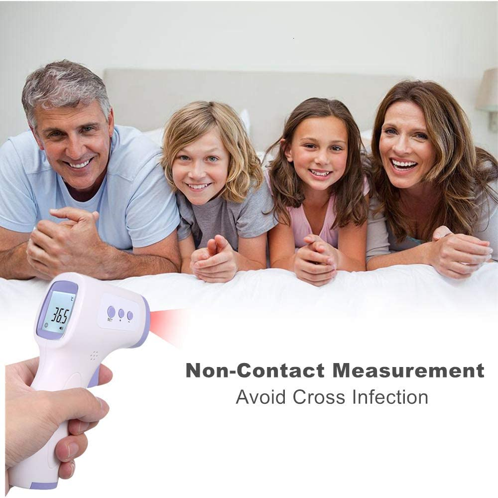 Forehead Infrared Thermometer for Adults Non-Contact with 3 Function Fever Alarm Over Range Display