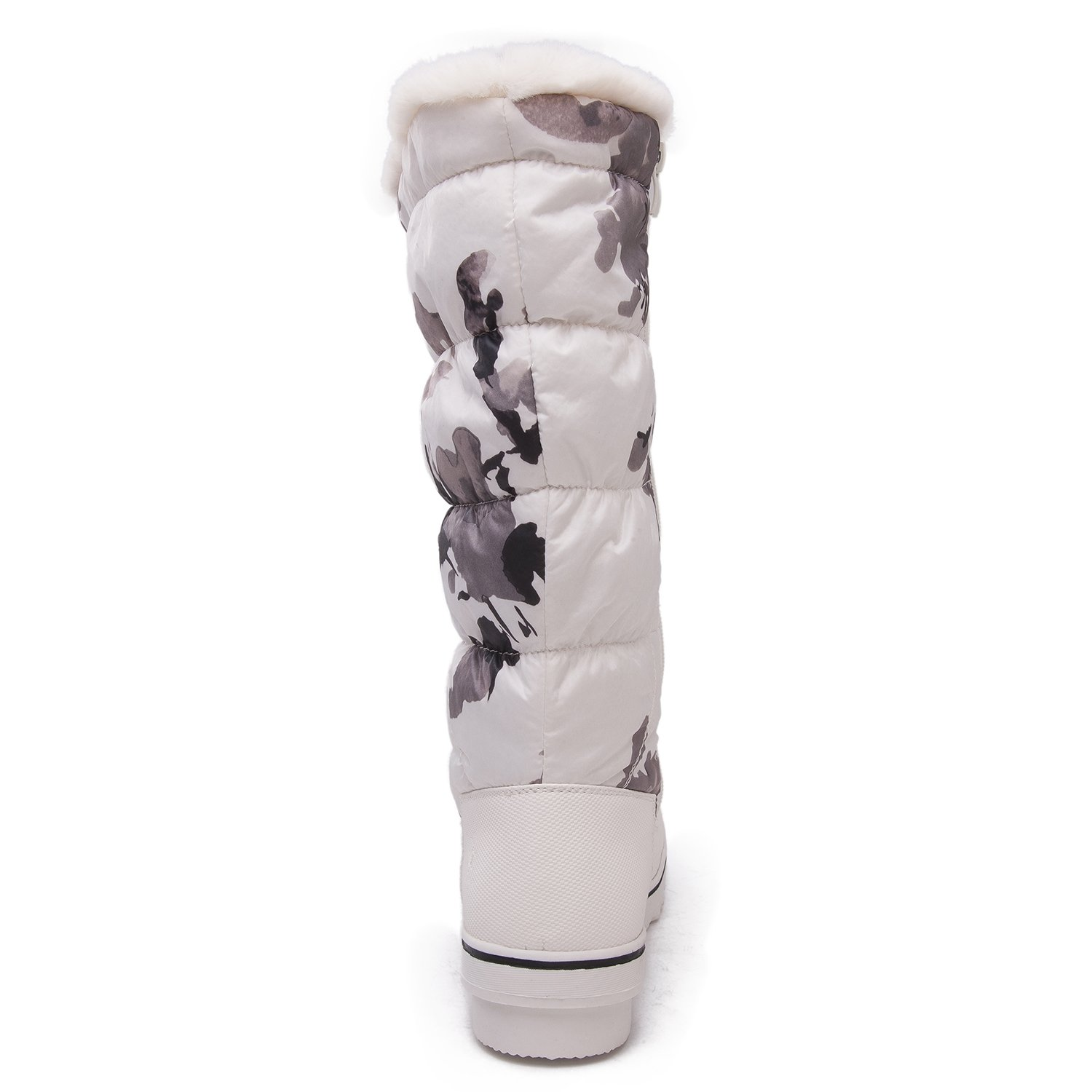 GW Women's 1713 White Camouflage Snow Boots 9 M US by Global Win (Image #3)