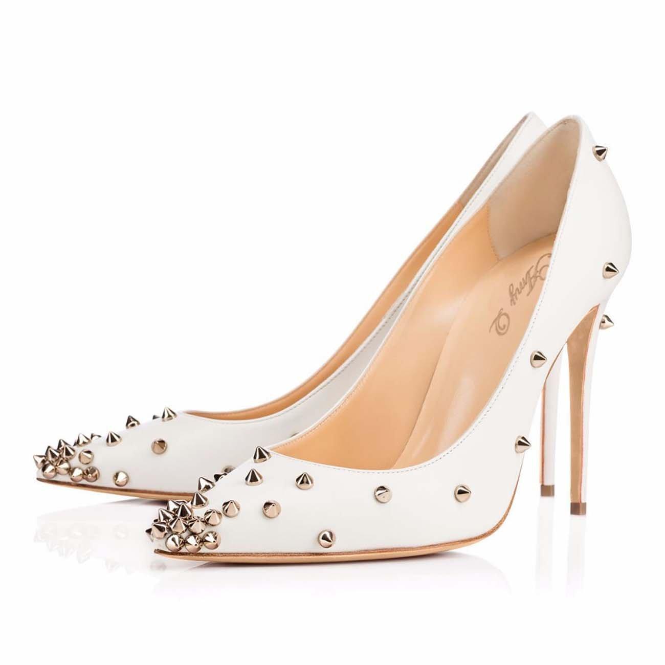 GONGFF Zapatos De Tacón Alto De Remache Blanco para para para Mujer Zapato De Mujer De Moda,1,40 1c65e6