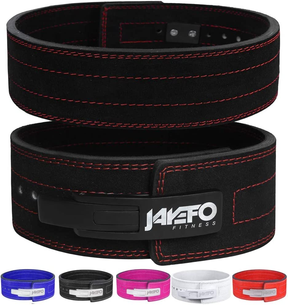 Jayefo Sports Leather Weight Lifting Lever Belt for Powerlifting IPF Buckle Men & Women Strongman 10MM Workout Deadlifts