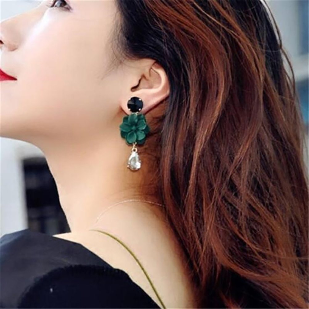 SuBoZhuLiuJ Vintage Earrings for Women/&Girl,Long Flower Drop Pendant Eardrop Earrings for Banquet Cocktail Party Jewelry Decor