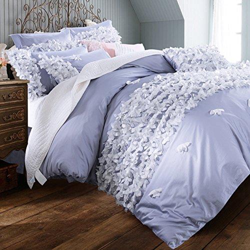 Nice Ladies cotton four sets bedding duvet cover pastoral floral pattern lattice new home decoration-A King hot sale