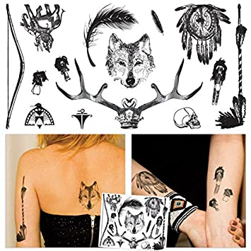 Amazon.com: 14 Native Temporary Tattoos/Large Temporary Tattoo Set ...