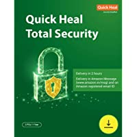 Quick Heal Total Security Latest Version - 2 PCs, 1 Year (Email Delivery in 2 hours- No CD)